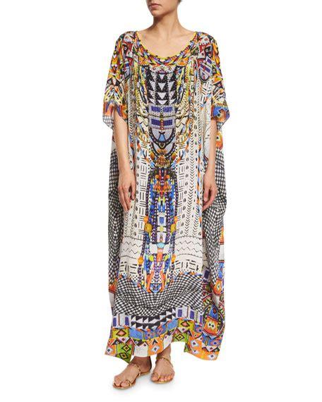 Kaftan Nm 1 camilla embellished caftan coverup maxi dress
