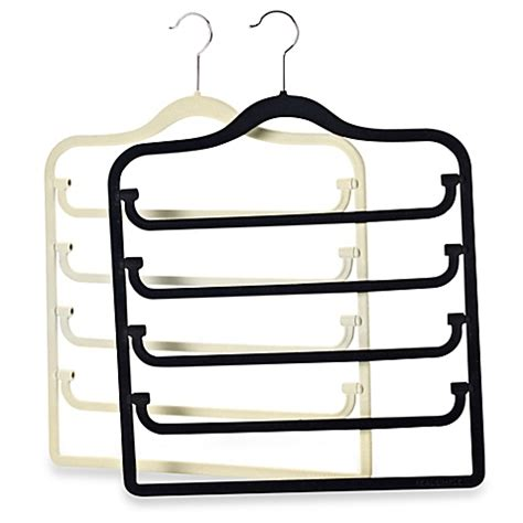 hangers bed bath and beyond real simple 174 slimline 5 tier swivel pant hanger www