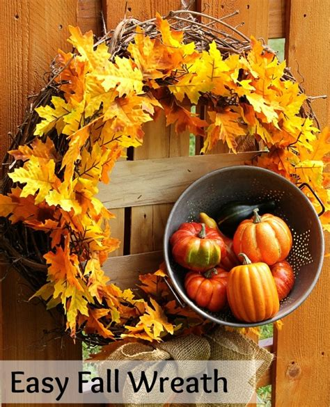easy to make fall decorations easy diy fall wreath house of hawthornes