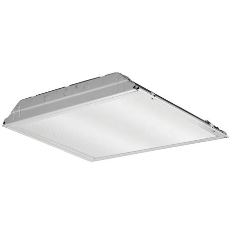 Lithonia Light Fixtures Lithonia Lighting 20 Watt Matte White Integrated Led Lay In Troffer 2 Ft X 2 Ft Prismatic