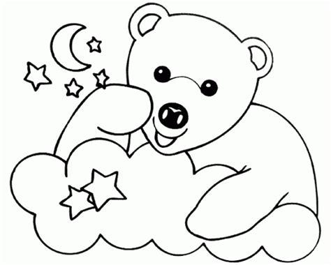 imágenes de osos fáciles para dibujar oso para colorear