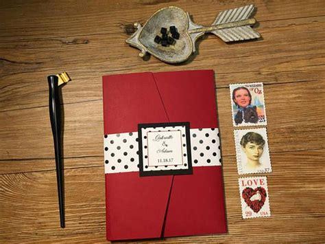 50 S Theme Wedding Invitations by Gabrielle Retro Wedding Invitation 50 S Theme Wedding