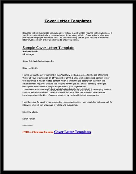 Cover Letter Template Via Email email cover letter sle with attached resume resume
