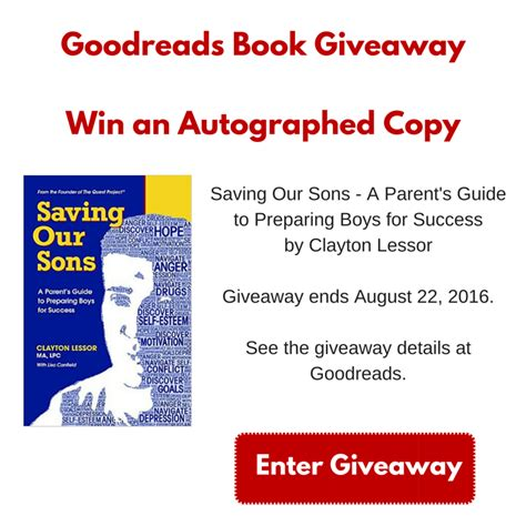 Win Our Giveaway by Goodreads Giveaway Win A Copy Of Saving Our Sons