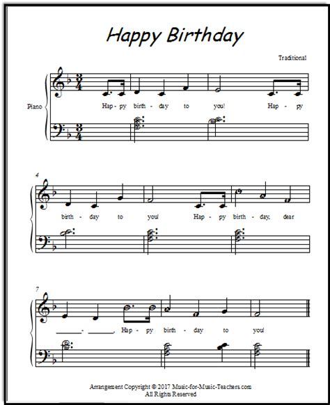 download happy birthday piano music mp3 happy birthday free sheetmusic for all instruments and voice