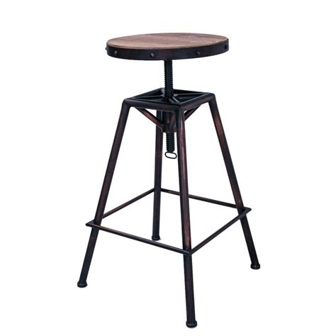 Wooden Stool Tops by Rustic Metal Bar Stool With Wooden Top Tops Metal Bar