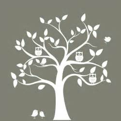 nursery wall decal tree tree silhouette with by tree silhouette wall decals amp wall stickers zazzle