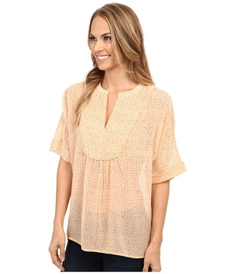 Leaf Dusty Blouse two by vince camuto dreamy touches y neck swing blouse dusty 6pm