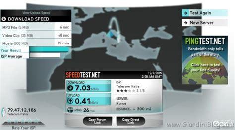 test della connessione test adsl misurate la velocit 224 della vostra connessione