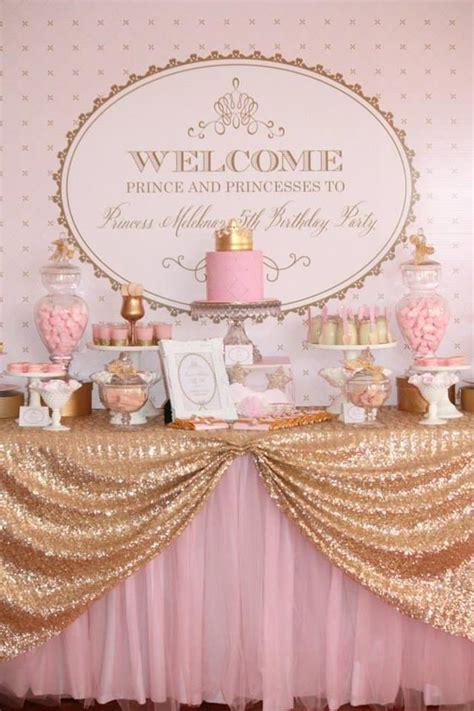 princess theme baby shower decorations pink and gold princess with so many really