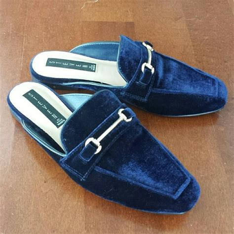 Steve Madden Mule Slide by 61 Steve Madden Shoes Steve Madden Rilee Blue Velvet Slide Mules From S Closet On
