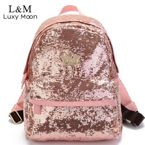 Luxy Pouch Purple luxy moon glitter backpack sequins backpacks for rucksack fashion brand gold