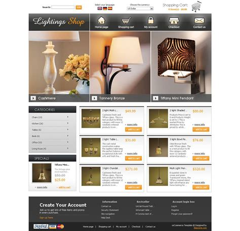 os04a00422 oscommerce template for lightings shop