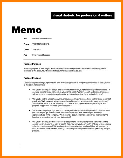 Template For Writing A Memo 8 professional memo exle park attendant