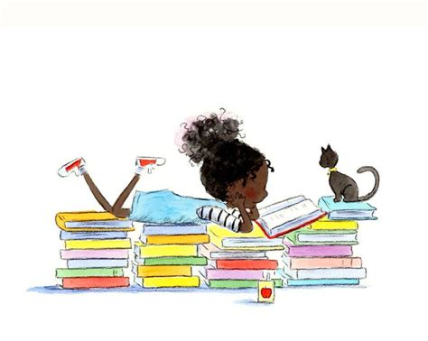 read black black reading with cat reading stories by