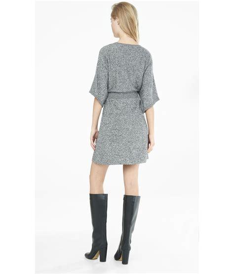 V Neck Knit Vest Dress kimono sleeve sweater dress sweater vest