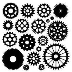printable gear stencils gear pattern use the printable outline for crafts