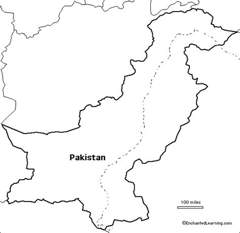 Afghanistan Pakistan Map Outline by Printable Map Of Pakistan Printable Maps