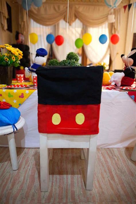 mickey mouse chair sashes kara s ideas chair cover at a mickey mouse clubhouse