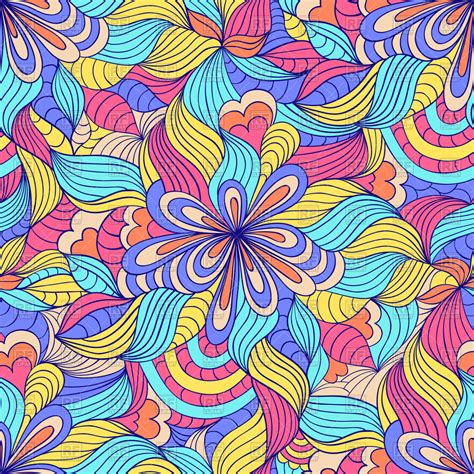 seamless pattern artist colorful abstract seamless psychedelic pattern royalty