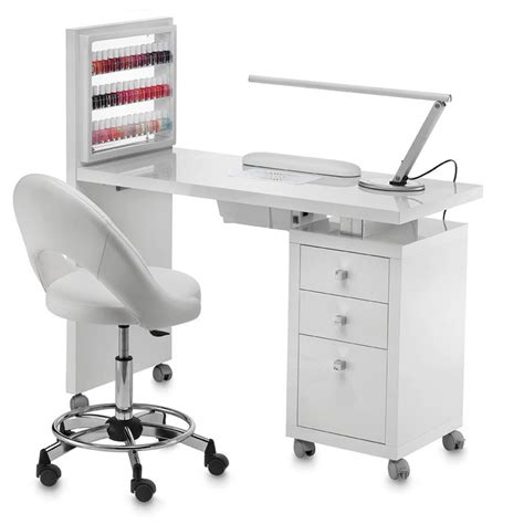 poggiamani scrivania tavolo manicure con aspiratore square display vented con