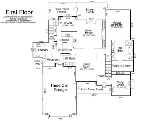 Floor Plan Measurements by Floor Plan Of A House With Measurements