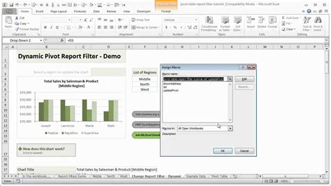 excel tutorial youtube pivot table dynamic pivot table report filters excel tutorial youtube