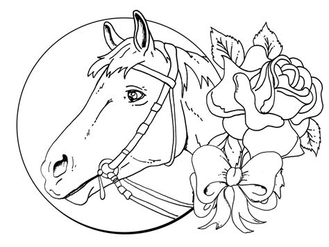 hard coloring pages of horses hard horse pages coloring pages