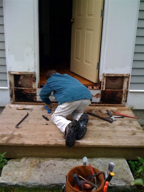 Front Door Repair Services Rot Repair A Team Inc General Contracting Painting Carpentry And Handyman Services In