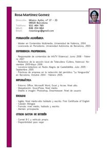 Curriculum Vitae Europass by Curr 237 Culum Vitae Ejemplos De Hoja De Vida Modelo Curriculum