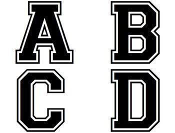 printable varsity font college varsity letter font docoments ojazlink