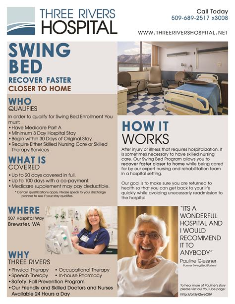 swing bed program swing bed three rivers hospital