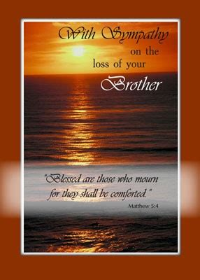words of comfort for loss of brother sympathy quotes for loss of brother quotesta