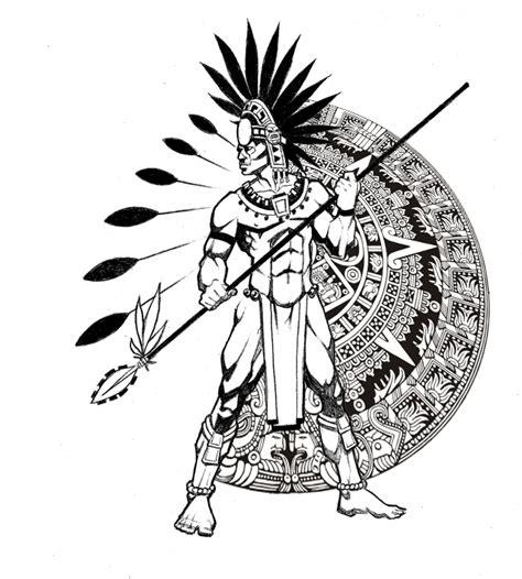 aztec pattern drawings color aztec calendar by ralfelor on deviantart