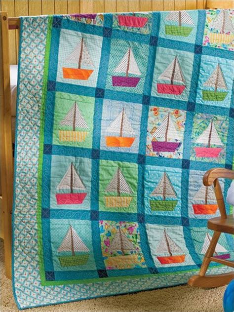 Sail Boat Quilt by Sailboat Quilt Rockabye Baby