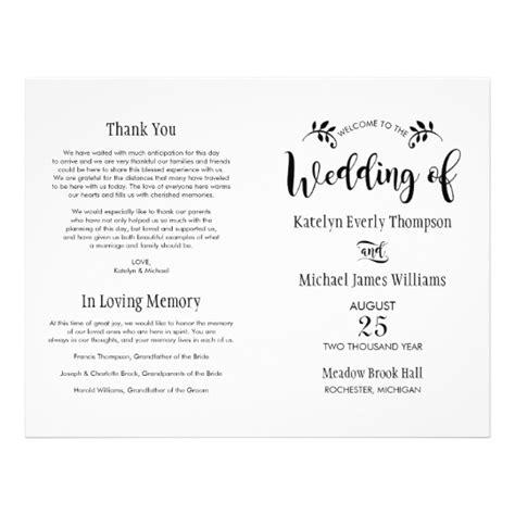 Wedding Ceremony Programs Zazzle by Wedding Ceremony Programs Black Script Flyer Zazzle