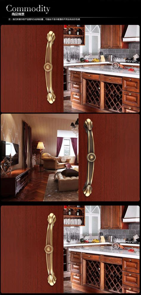 luxury antique copper 128mm furniture hardware handles