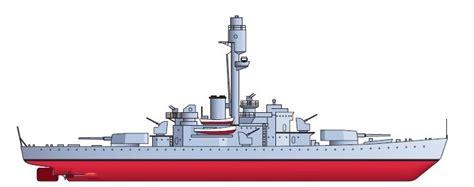 barco guerra dibujo buques capitales 1 9 1939 ca 241 onero acorazado tipo iii