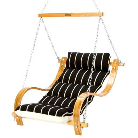 single seat swing shop single swing with oak arms hatteras hammocks