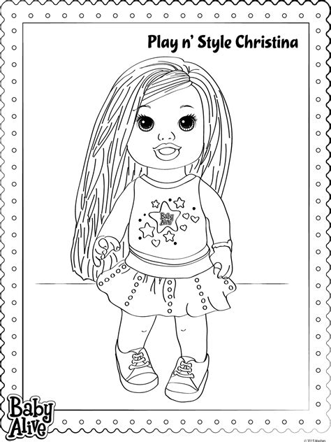 baby alive coloring pages baby alive pages coloring pages