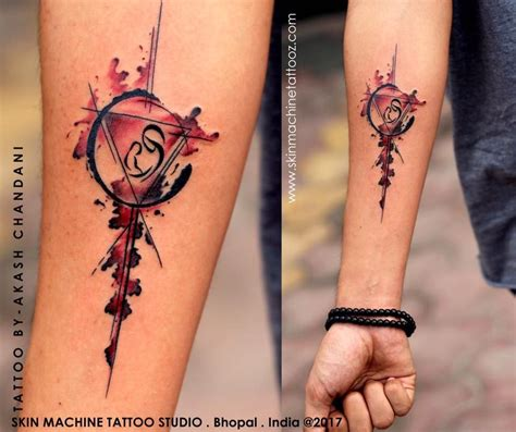 element tattoo studio symbol with five fundamental elements of the