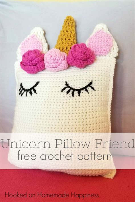 The Pillow Friend unicorn pillow friend crochet pattern hooked on