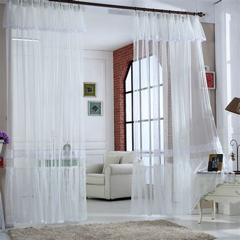 curtains for room flowing light white solid lace curtains for dining room