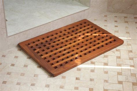 Outdoor Shower Mat by Teak Mat For Outdoor Showers Home And Space Decor Warm