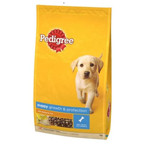 pedigree puppy food buy pedigree complete puppy food chicken rice 6kg
