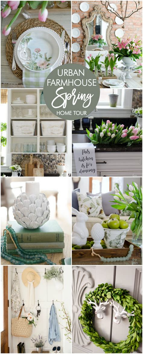 spring home decor 2017 farmhouse chic easter tablescape spring decorating ideas spring home tour