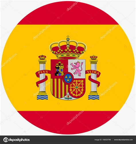 colors of spain flag of spain icon realistic color abstract concept on