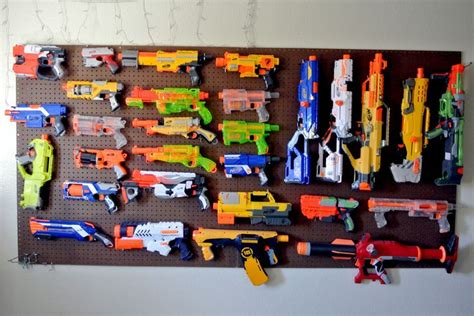 nerf bedroom nerf gun armory wall new office space ideas