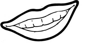 Smiling lips colouring pages