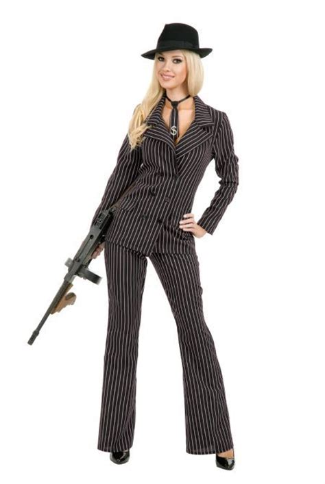 plus size gangster costume women gangster moll 1920s suit hat costume black red plus